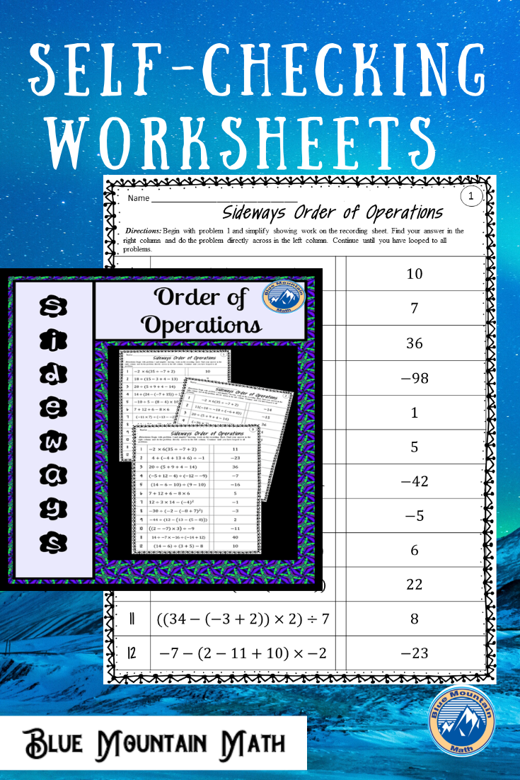 Order Of Operations Sideways Order Of Operations Math Word Problems Teaching Middle School Maths [ 1102 x 735 Pixel ]