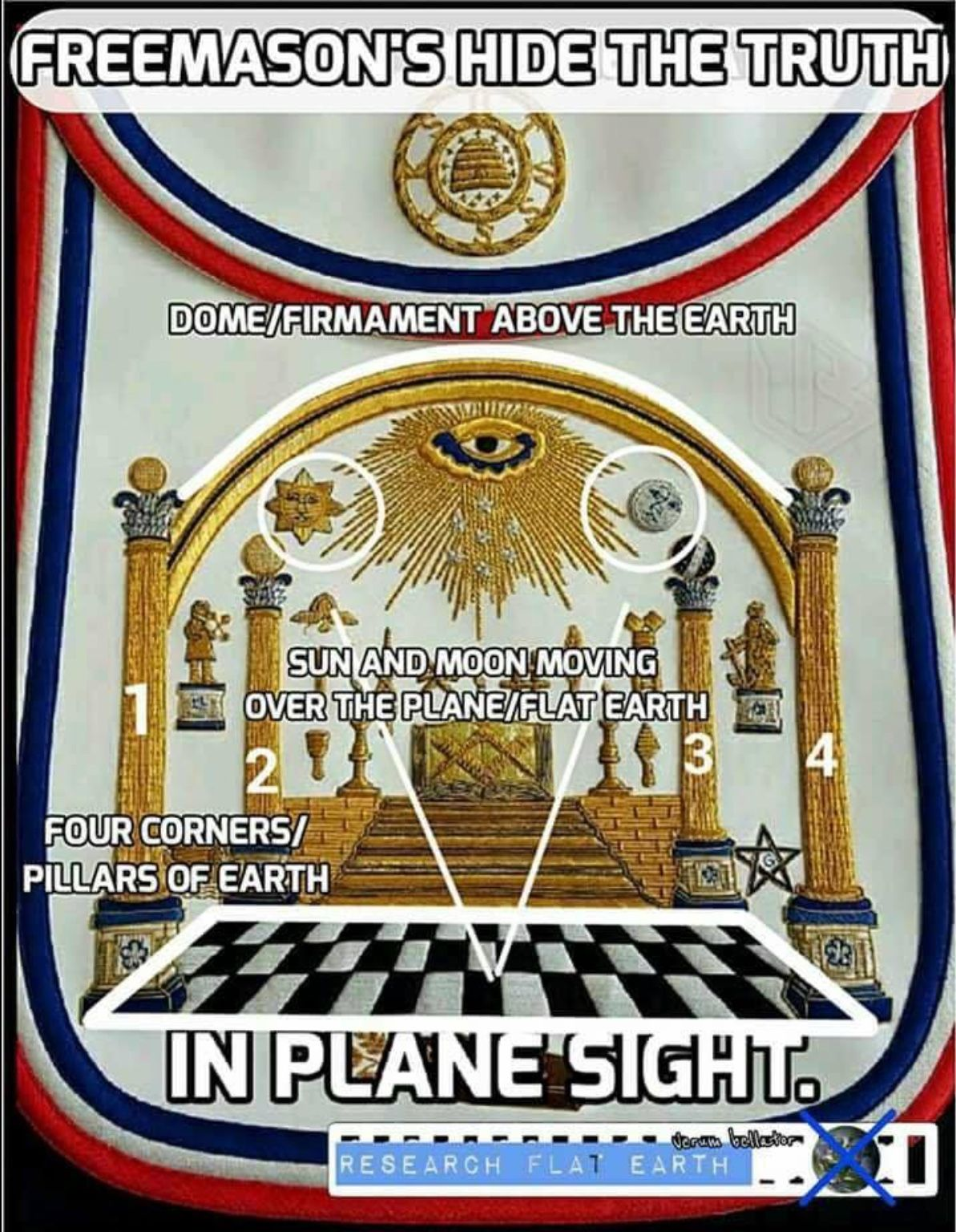 Freemasonry.. flat earth.. | Your government lies to you ...