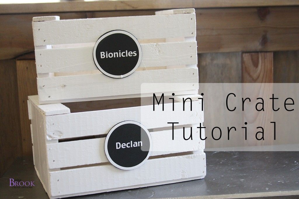 DIY Mini Crate Tutorial from @BeingBrook