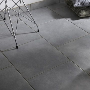 Carrelage int rieur new york en gr s c rame gris 45 x 45 for Carrelage interieur gris