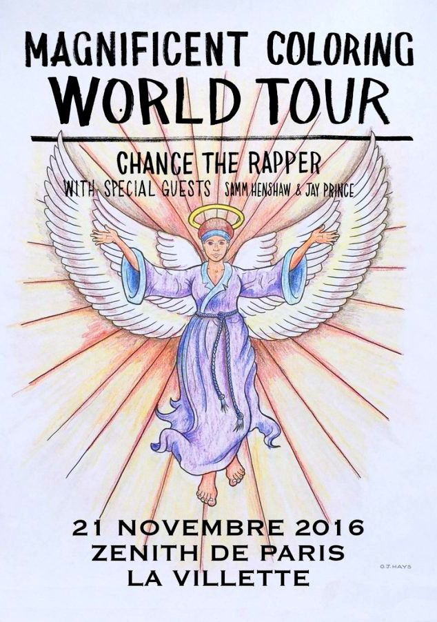 Chance The Rapper Gig Poster Chance The Rapper Coloring Book Chance Coloring Books