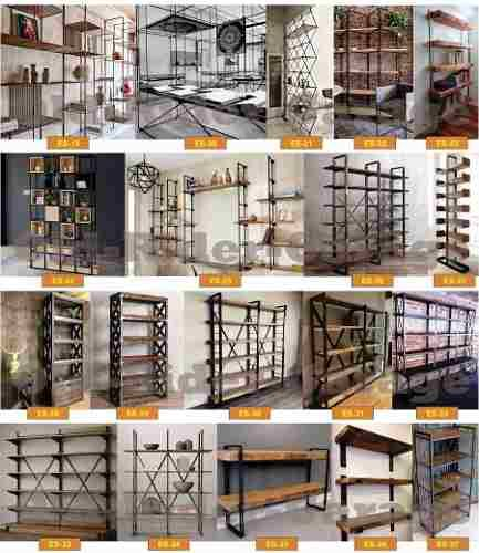 vajillero biblioteca estantería industrial precio x m2 ox-35 #vintageindustrialfurniture