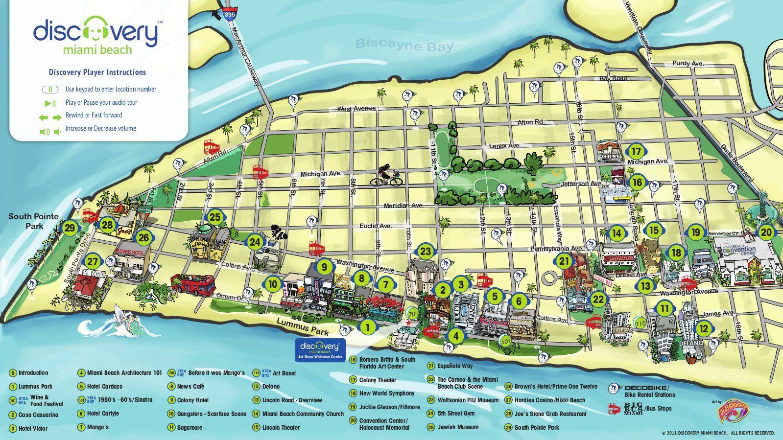 Art Deco Miami South Beach Map マイアミ 撮影 アールデコ