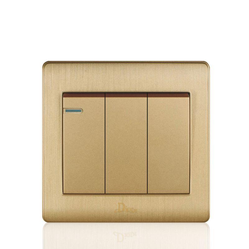 UK Standard Gold Luxury Switch Panel,86*86mm wall switch,110~250V ...