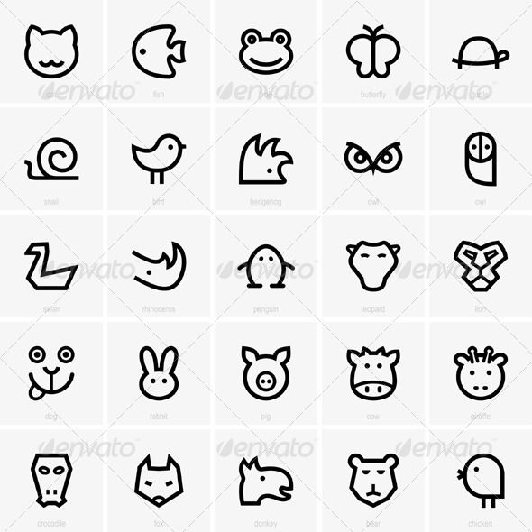 animal icons - Google Search | Branding Project | Pinterest ...