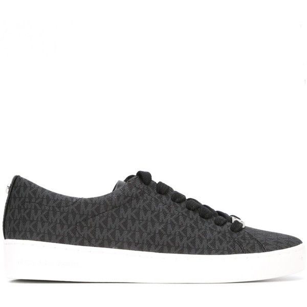 Michael Michael Kors Logo Print Sneakers (1,080 GTQ) ❤ liked on Polyvore featuring shoes, sneakers, print shoes, kohl shoes, michael michael kors, print sneakers and patterned shoes