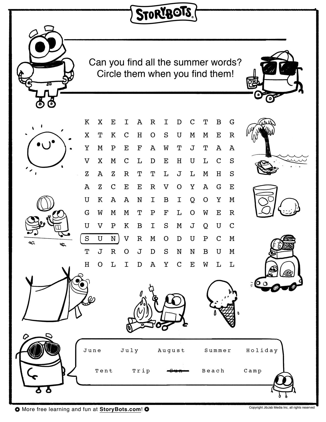 Summer Word Search Summer Math Worksheets Summer Words