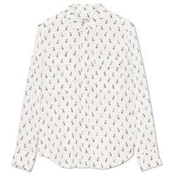 Marcs French Bulldog silk shirt