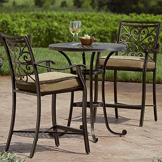 Agio International Fair Oaks 3pc Balcony Height Bistro Set | My Home ...