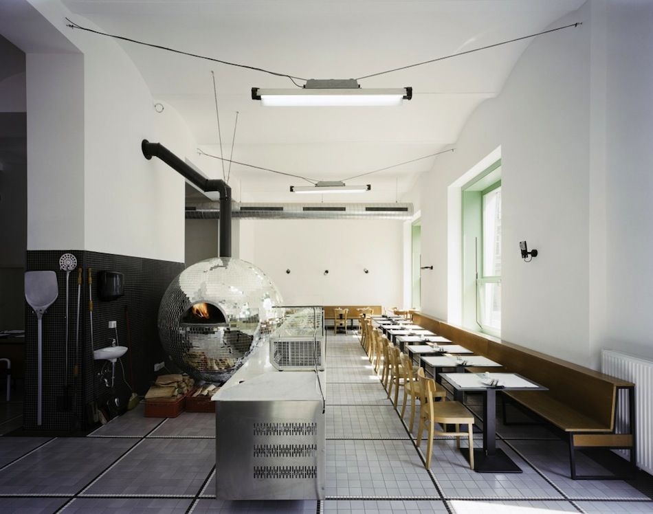 A Rotating Disco Ball Pizza Oven by Lukas Galehr Vienna pizza food