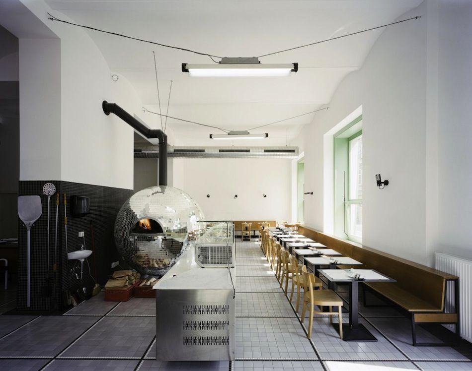 A Rotating Disco Ball Pizza Oven by Lukas Galehr Vienna pizza food - ideen fur raumgestaltung ausgefallenes interieur susanna cots