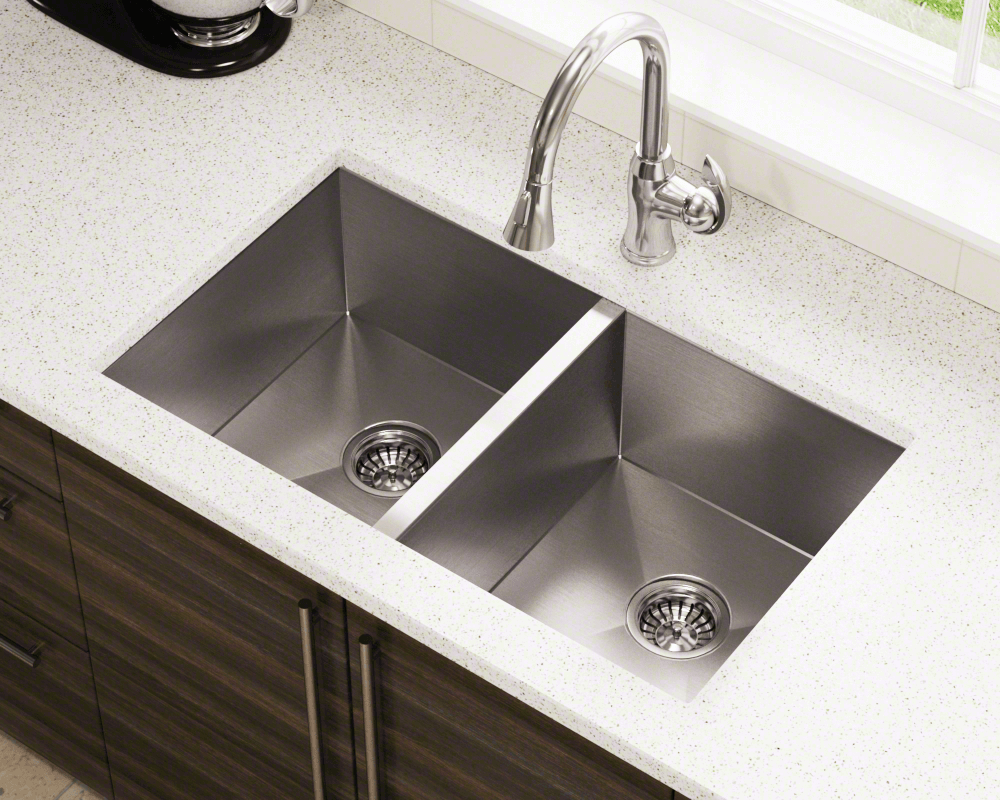 3322d Double Equal Rectangular Stainless Steel Kitchen Sink Beach