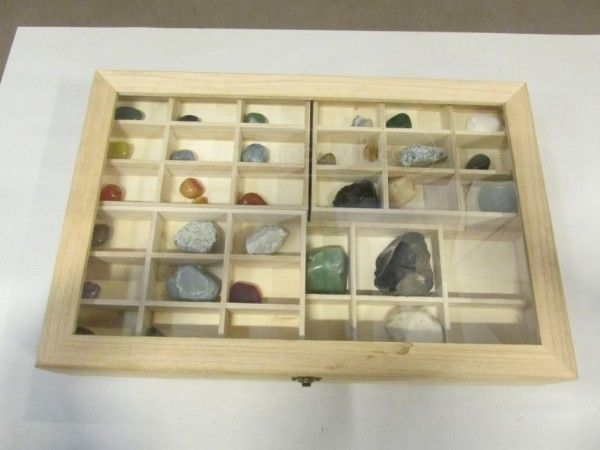Geology, Rock Collection w/Display Box Rock Hound   Rocks