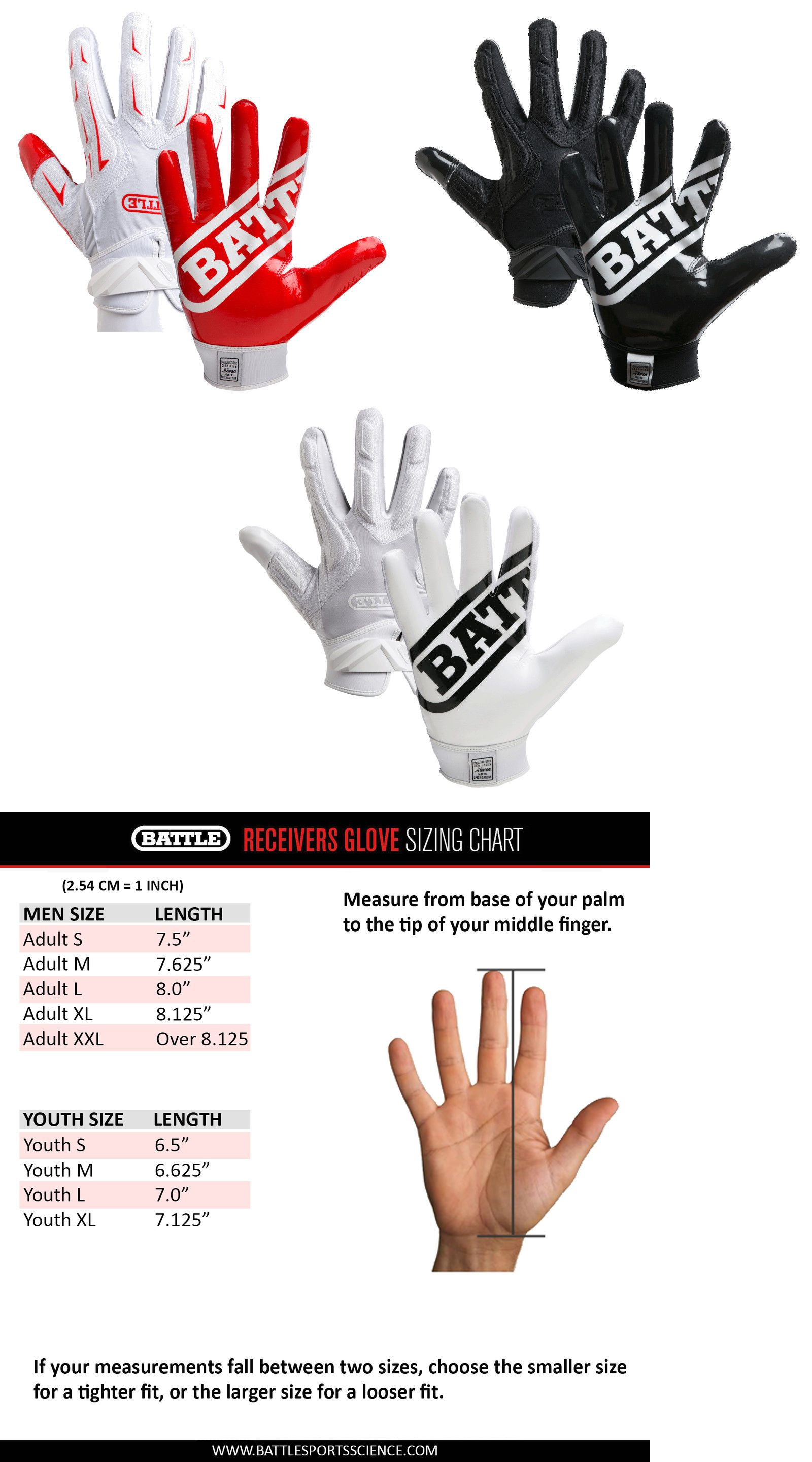 Wilson Youth Football Gloves Size Chart