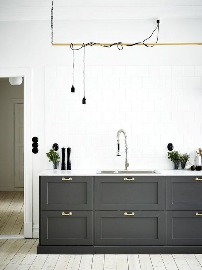 masculine kitchen features some industrial elements