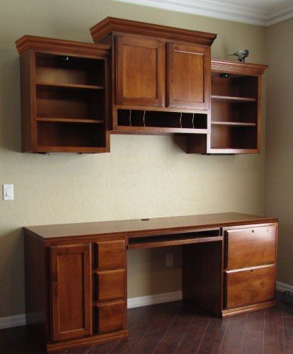 Murphy Bed Nfm: This Custom Desk Unit Was Constructed In Alder Wood With