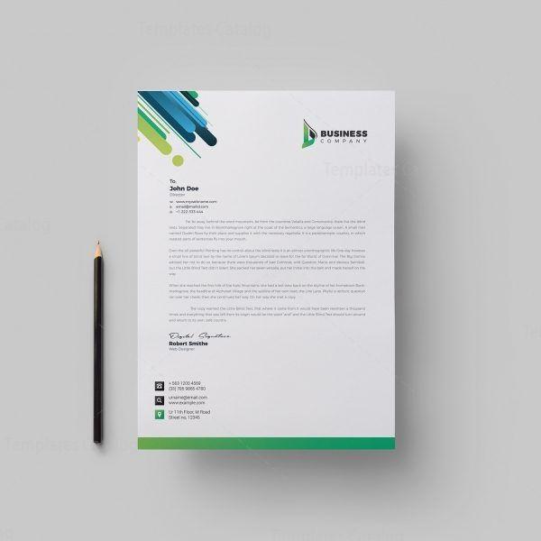 Best Corporate Letterhead Design Template 002165 Letterhead Design