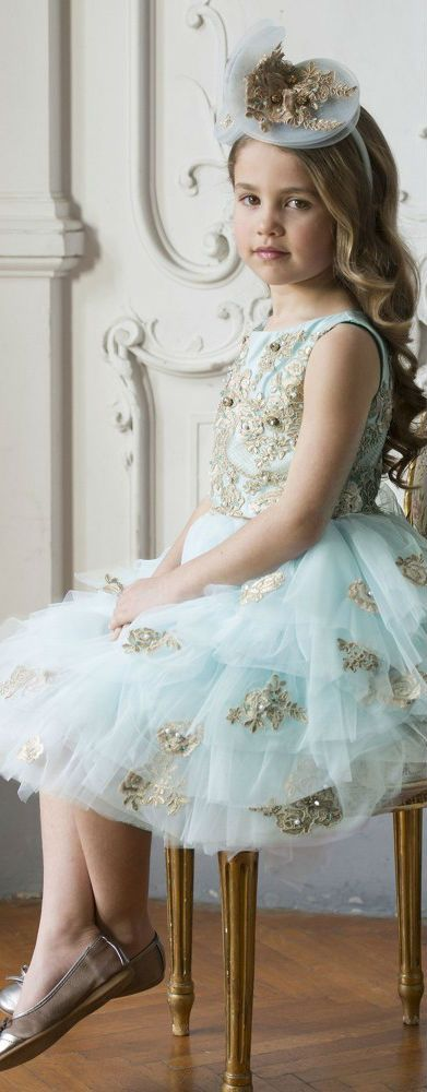 85fd8747e ON SALE!!! Love this LESY LUXURY Turquoise Blue Tulle   Gold Lace ...