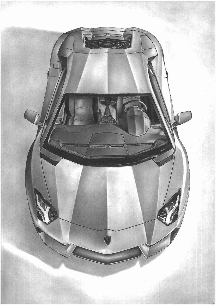 Car 2012 lamborghini aventador easy drawings pencil drawings car sketch sweet cars