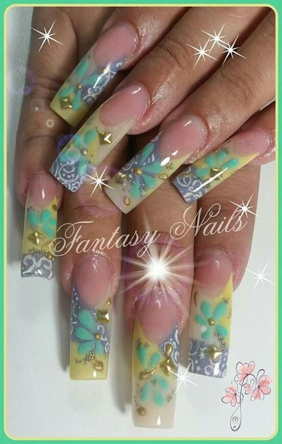 Pin de guadalupe aguiñiga en 3d | Pinterest | Diseños de uñas, Uñas ...
