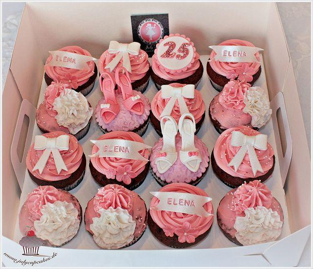 Strange 25Th Birthday Cupcakes Box Birthday Cards Printable Nowaargucafe Filternl