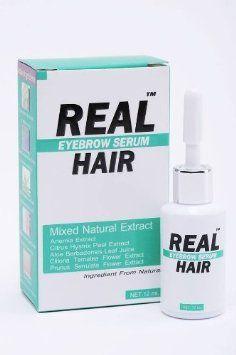 Real Hair Eyebrow and Hair Enhancing Growth Serum Mixed Natural Extract 0.41 Oz