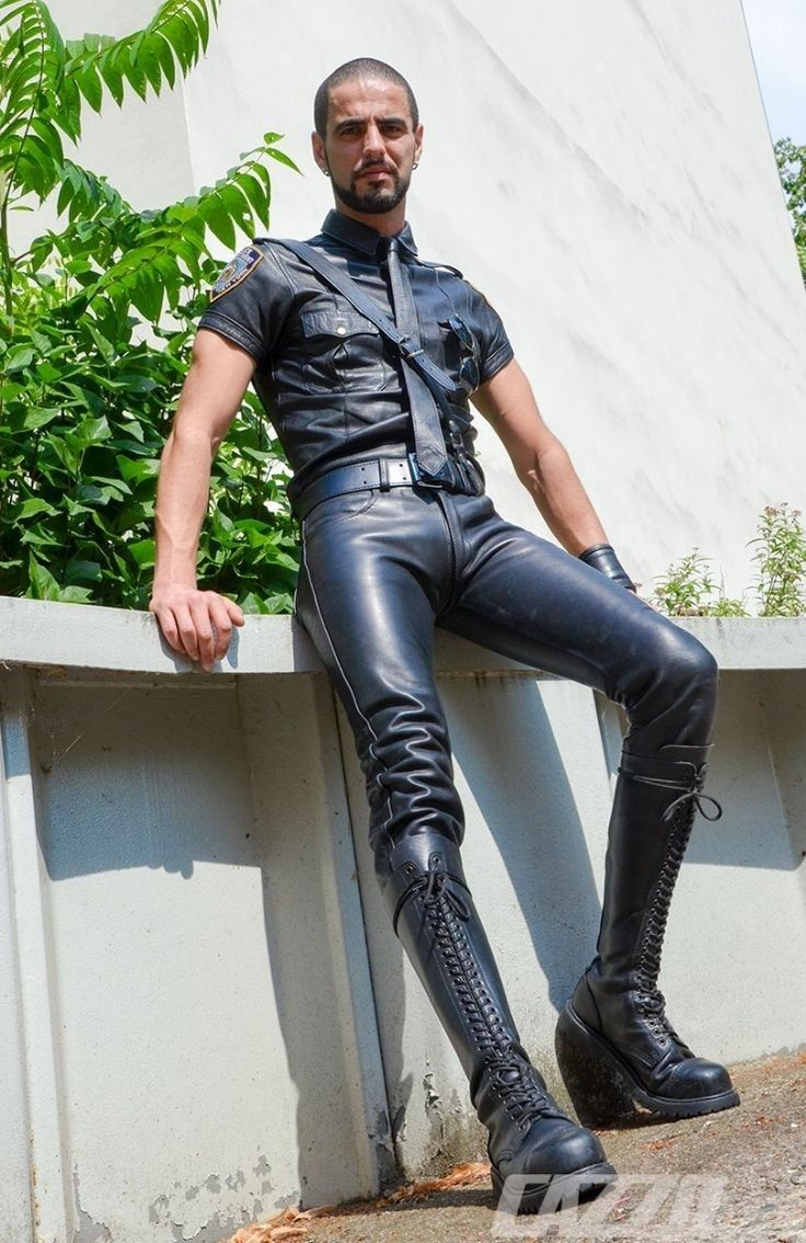 Mens leather trousers new black leather pants fetish leather jeans