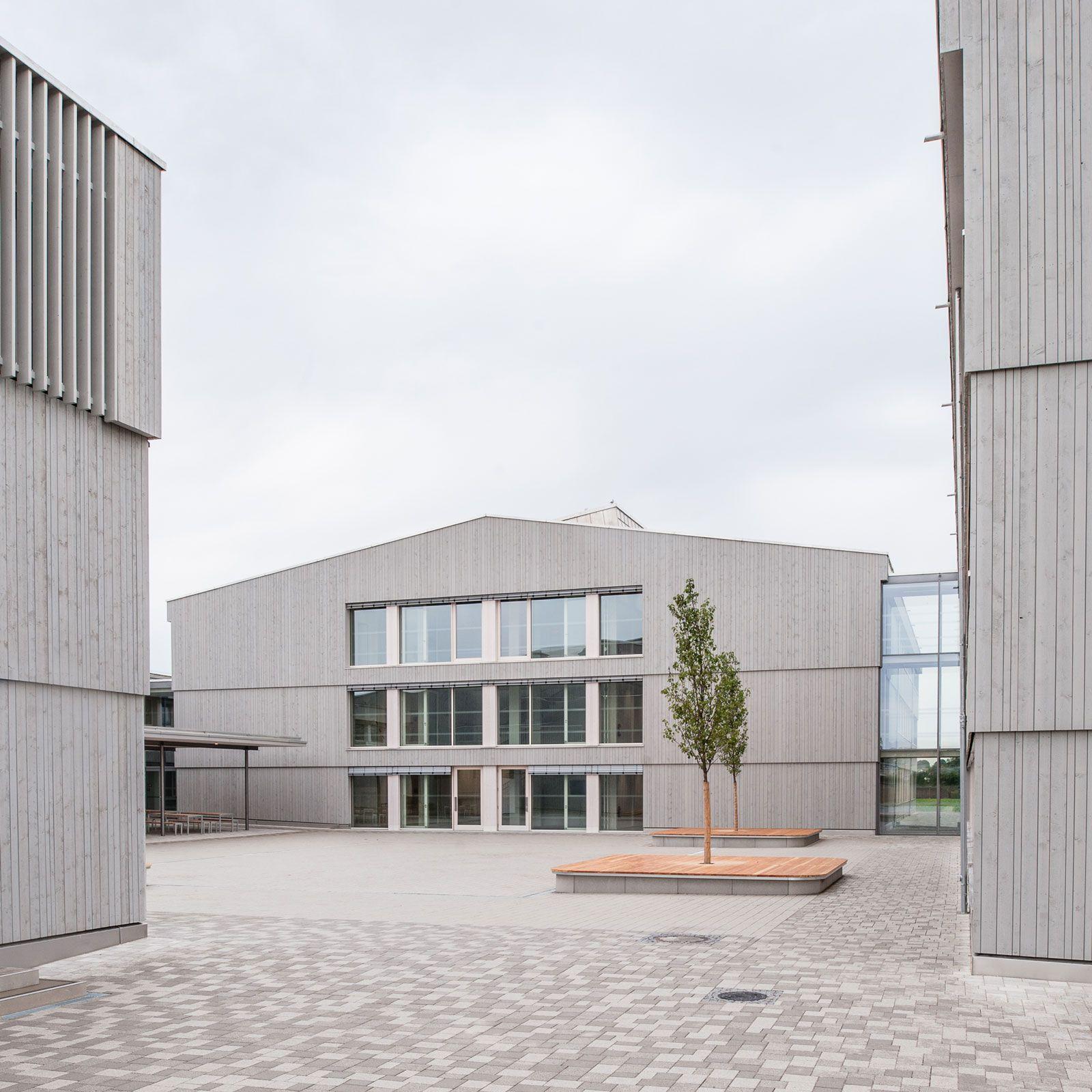 Architekt Augsburg architekten hermann kaufmann zt gmbh projekte gymnasium diedorf