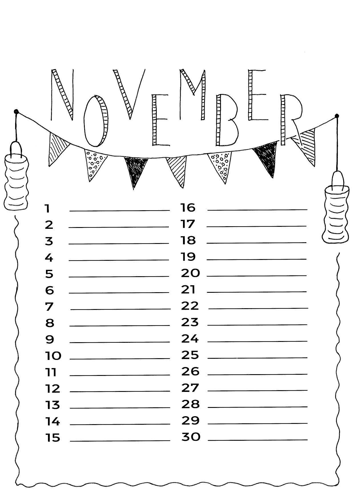 November Kalender Ideeen Kalender Verjaardagskalender