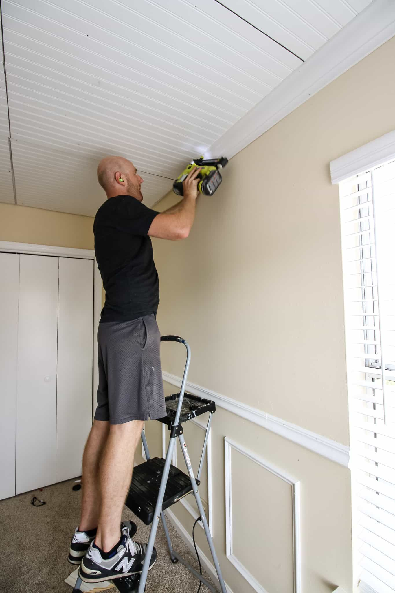 DIY Coffered Ceiling Coffered ceiling, Coffered ceiling