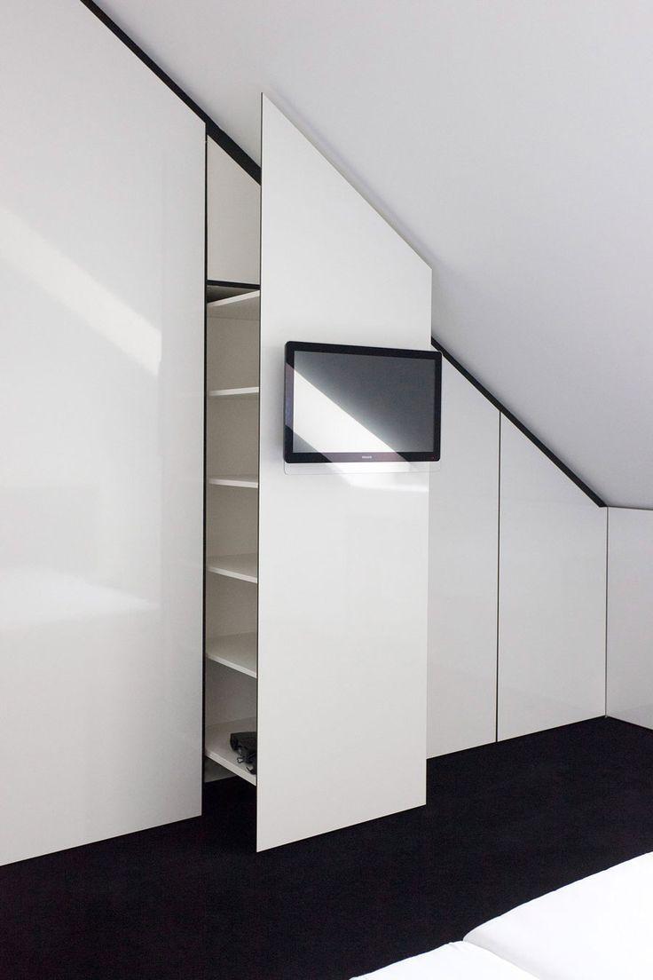 Idee Fur Wandniesche Neben Dem Bett Im Spitzboden Karl Heinz Losch Dachboden Renovierung Moderne Innenarchitektur Spitzboden