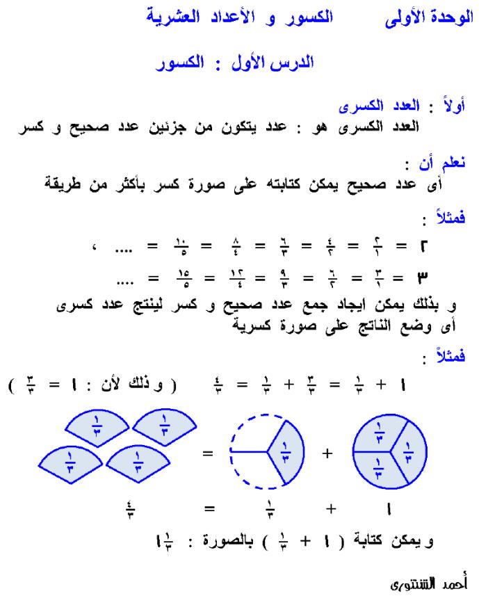 مذكرة رياضيات للصف الرابع الابتدائي الترم الثاني 2020 Words Eid Stickers Math
