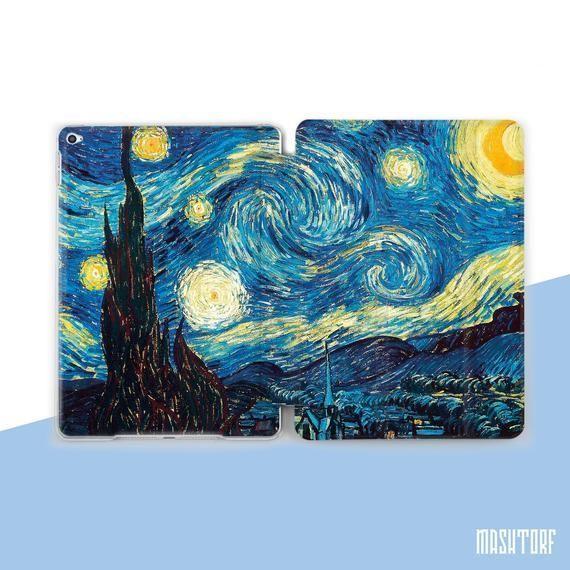 Van Gogh iPad 7 Case Starry Night iPad Pro 12.9 Case iPad 10.2 | Etsy