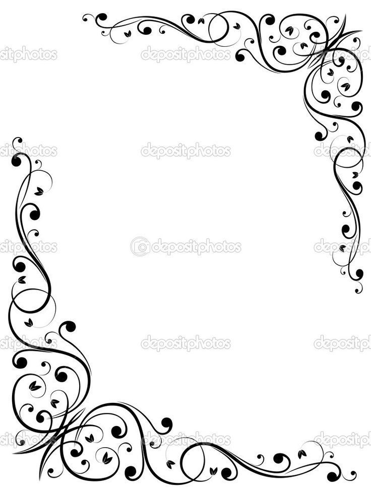 Free Fancy Borders and Frames | Simple abstract floral frame ...