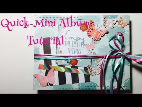 diy quick mini album tutorial deutsch youtube. Black Bedroom Furniture Sets. Home Design Ideas