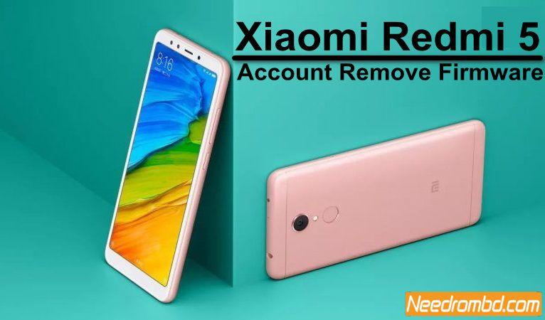 Xiaomi Redmi 5 MDG1 Account Remove Firmware   Smartphone