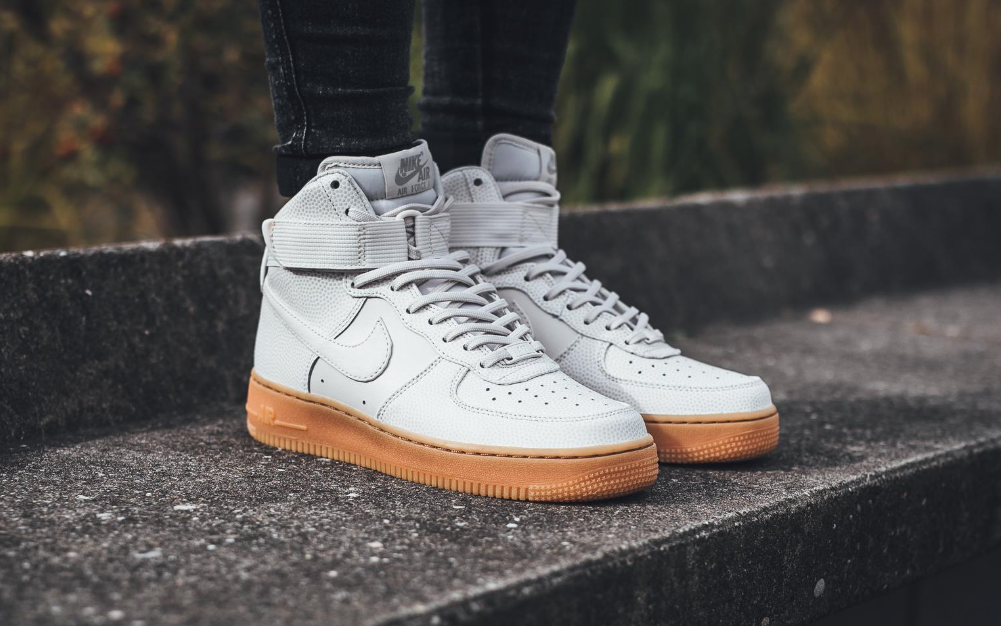 The Nike Air Force 1 High Is Treated In Phantom White
