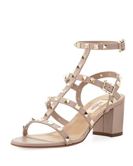 c2d53309f14 VALENTINO Rockstud Leather 60Mm City Sandal