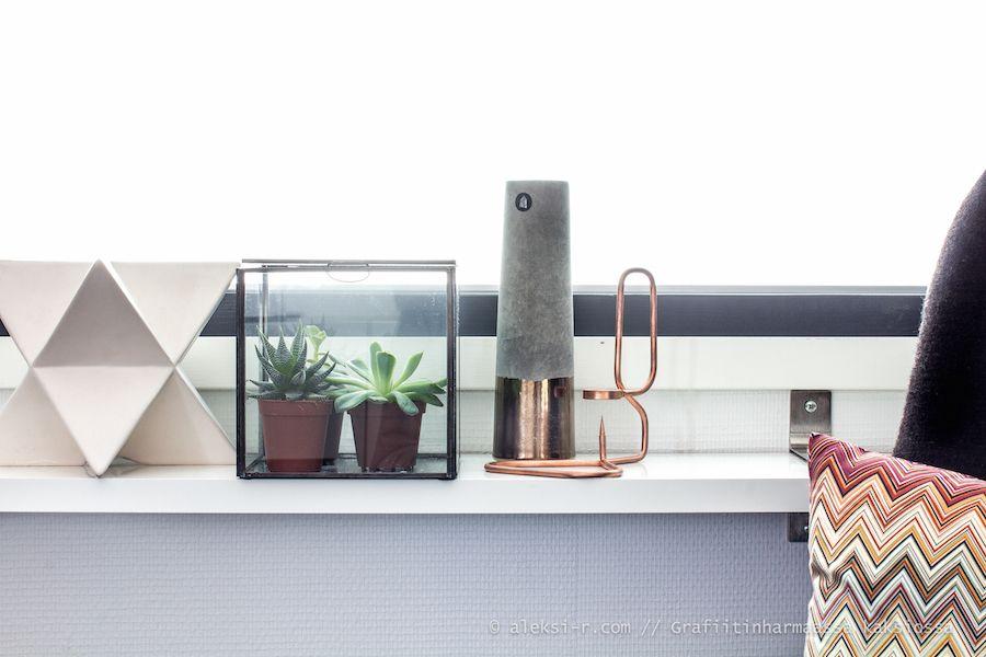 Kasveja lasilaatikkoon