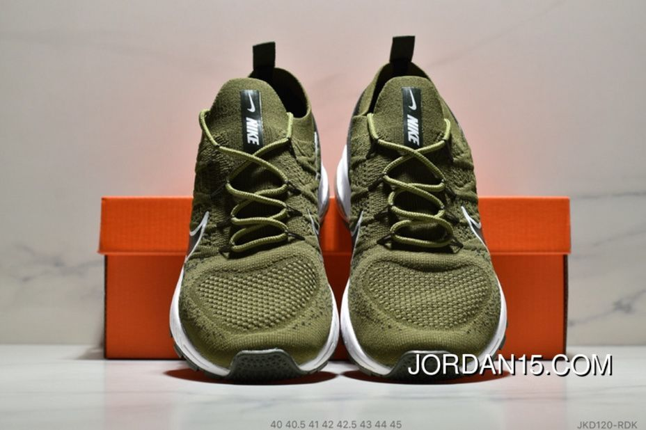 694d7a963d1d Nike Air Max Flyknit JKD120-RDK Mens Running Shoes Casual Sneakers Army  Green Black Latest  Sneakers