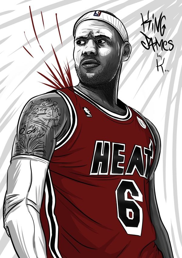 LeBron James drawing version GTA by Guillaume Goudin, via Behance