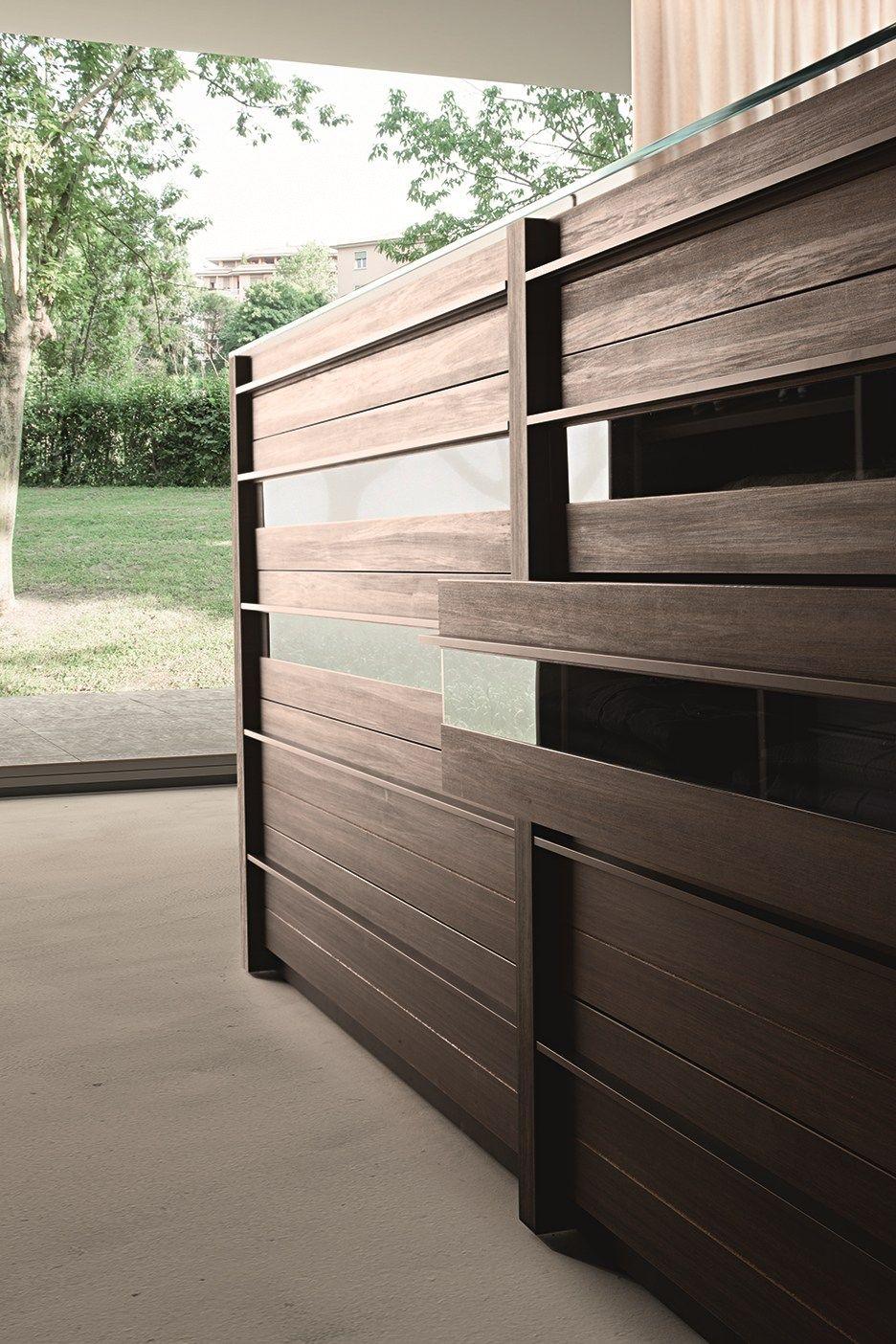 Cassettiera componibile in legno in stile moderno Cassettiera centrostanza Atollo by Presotto Industrie Mobili design CRS Presotto