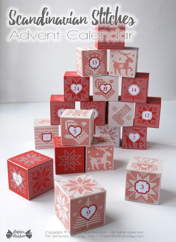 By PaperBonbon advent Pinterest Advent calendars and Calendar