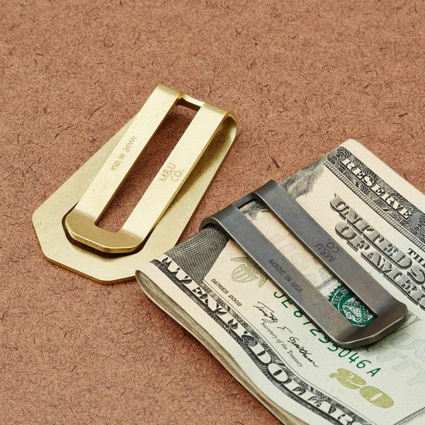 b21b5fa7ac8 Solid Brass Money Clip ( 38 via Cool Material)