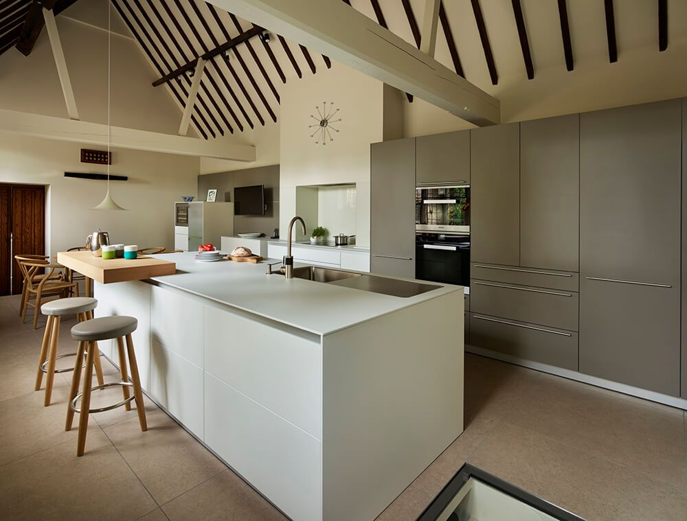 A Beautiful Bulthaup Kitchen In Flint And Alpine White With Miele  Appliances And Carl Hansen Furniture   Designed And Installed By Hobsons