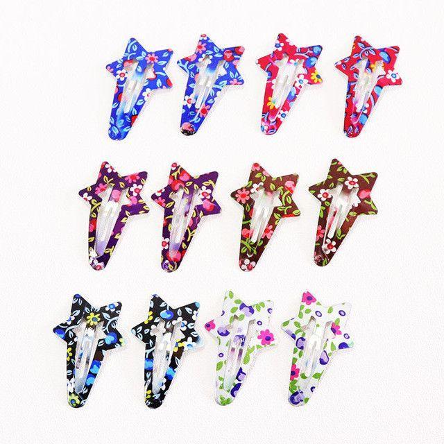 20Pcs//set Candy Color Snap Hair Clips Barrettes Girls Hairpins Hair Accessor UQ