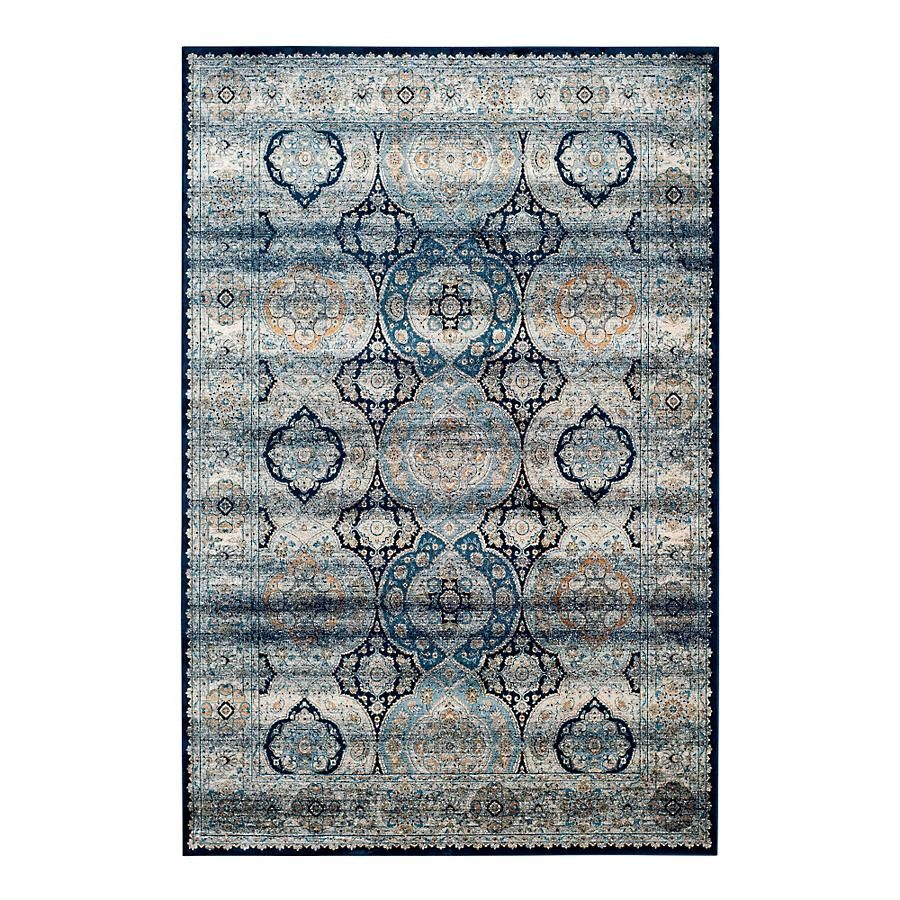 Barrie Area Rug Navy Blue Ivory X Safavieh
