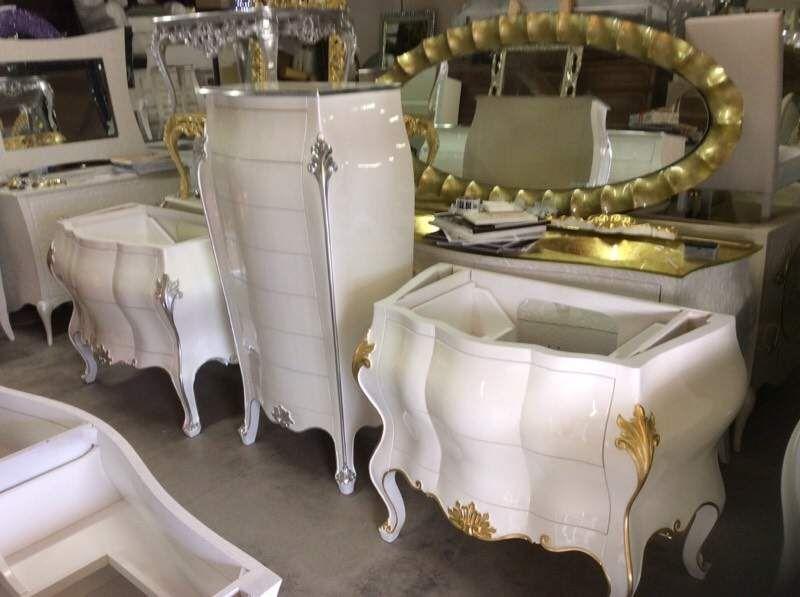 Mobile da bagno stile barocco veneziano massello su misura ...