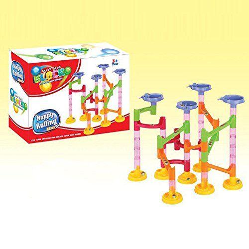 DIY Building Blocks Track Run Race Tower Marble Ball Construction Toys