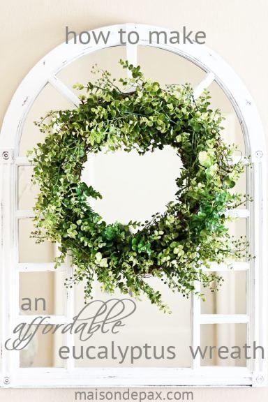 DIY Eucalyptus Wreath | Eucalyptus wreath, Front door wreaths and ...
